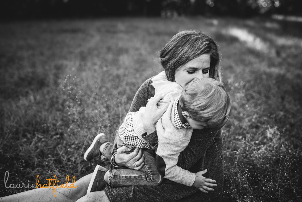 mom kissing little boy | Mobile AL lifestyle family photography