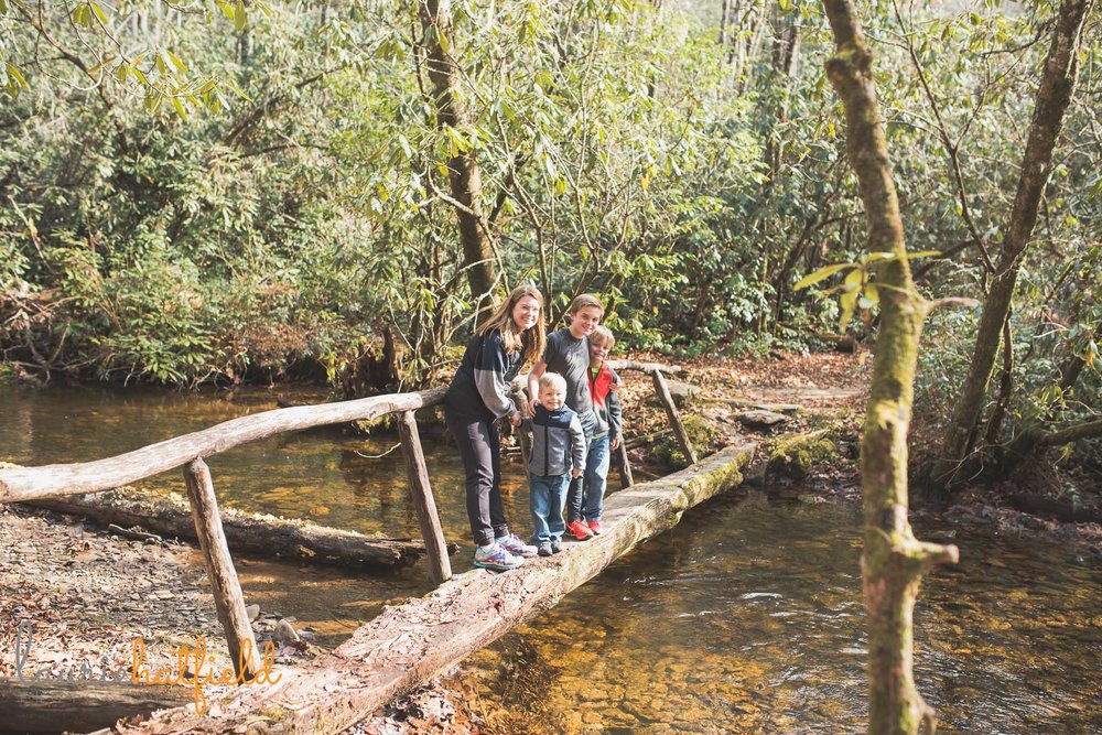 family on a bridge | Mobile AL lifestyle photographer