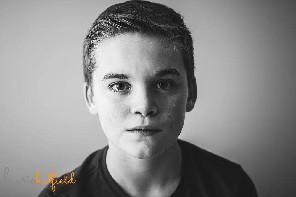 split-light photo of 11-year-old boy | Fairhope AL lifestyle family photographer