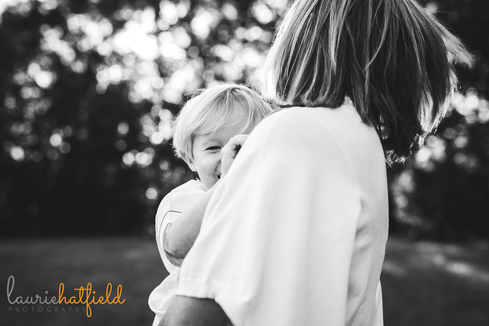 mom holding little boy | Mobile AL family photographer