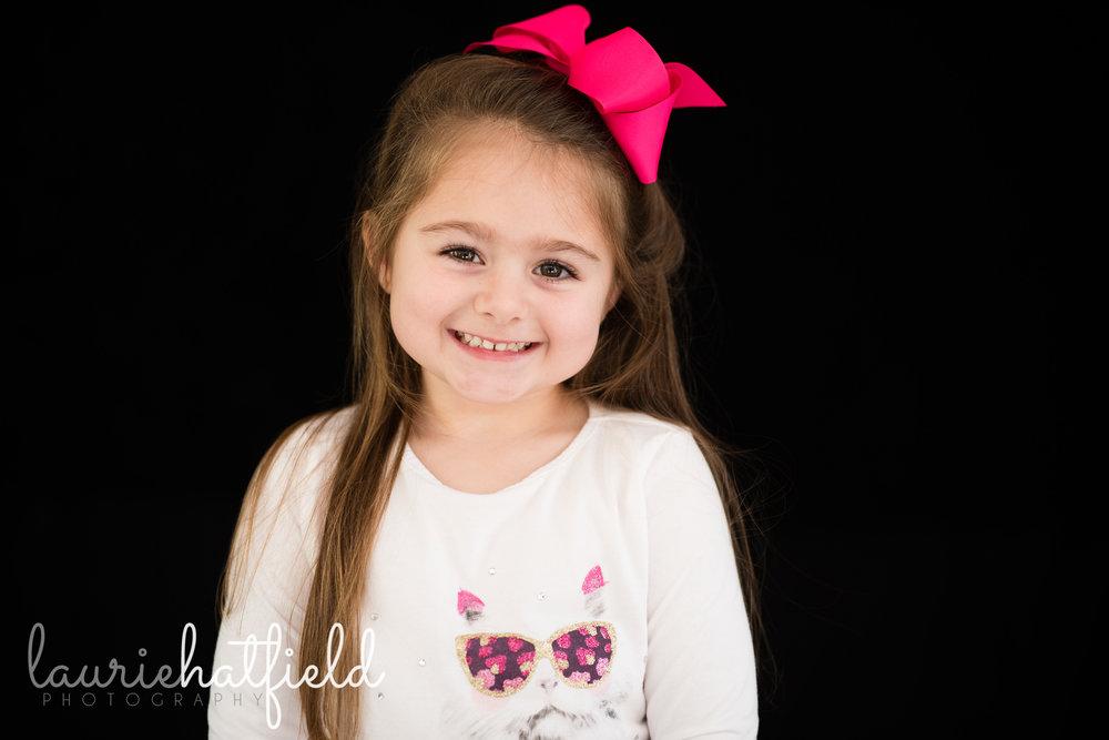 portrait of 5-year-old girl | Mobile AL school photographer