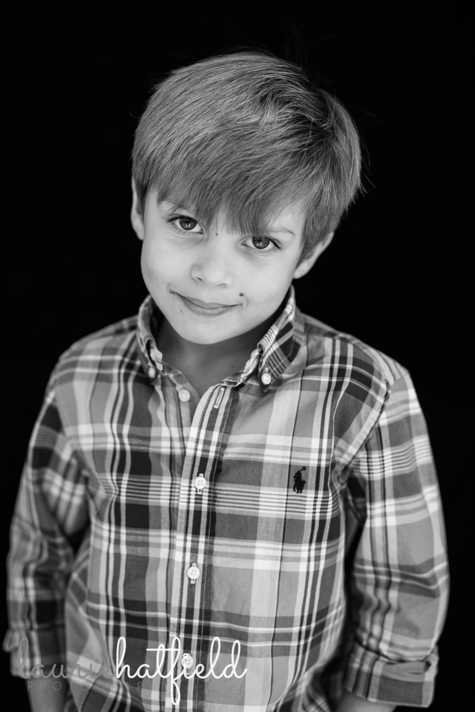 black and white portrait of boy | Foley AL school photographer