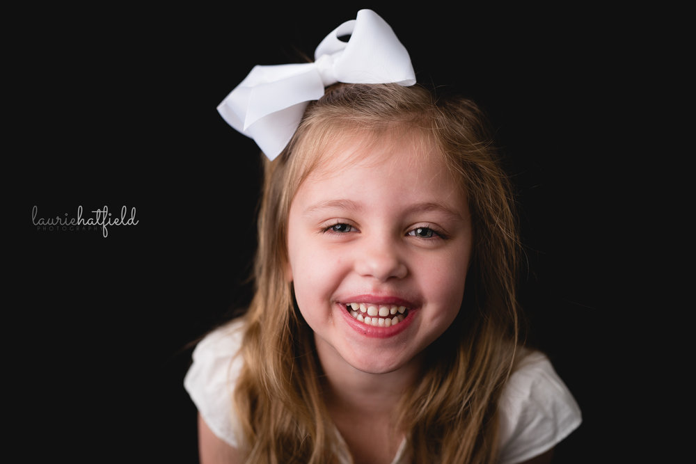 4-year-old girl laughing | Mobile AL school photography