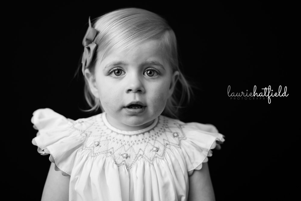 little girl with blonde hair | Mobile AL school photography