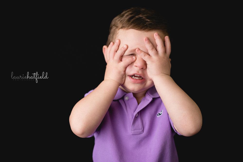 little boy in purple shirt | Mobile AL school portraits