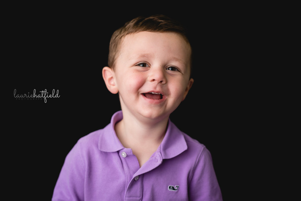 little boy in purple shirt | Mobile AL school photographer