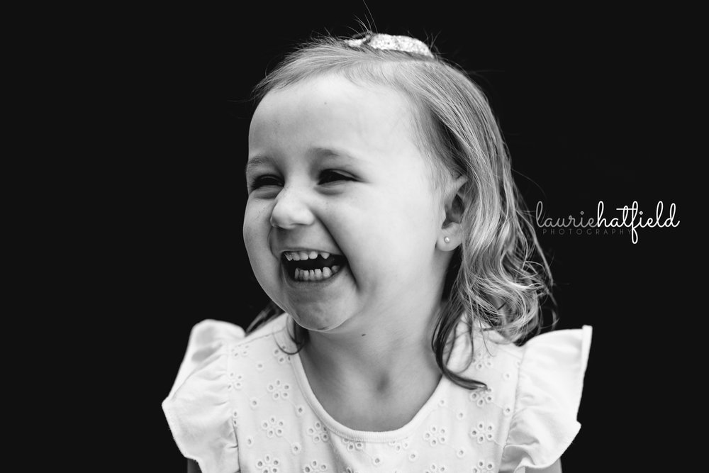little girl laughing | Mobile AL private school photographer