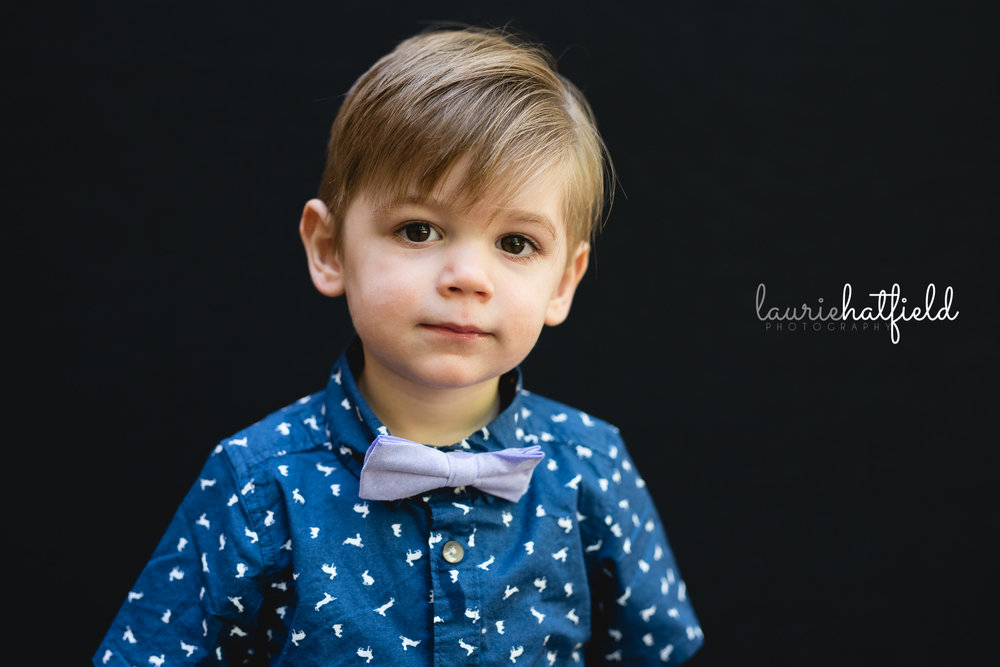 little boy with purple bow tie | Mobile AL school photographer