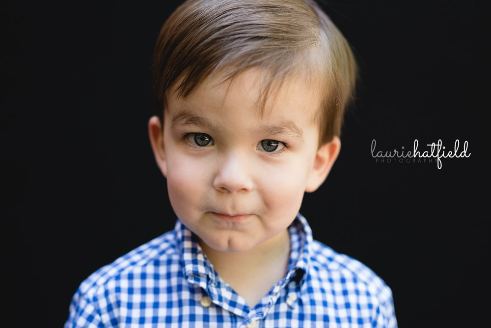 little boy with checkered shirt | Mobile AL preschool portraits