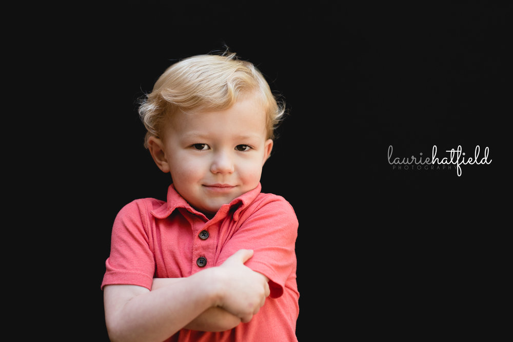 little boy crossing arms | Mobile Alabama daycare photographer