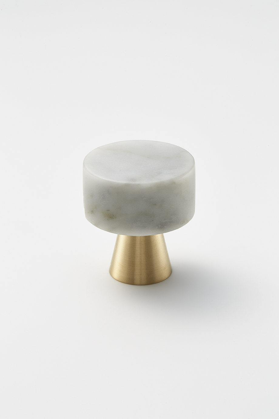 Door Knob Duo Brass Marble