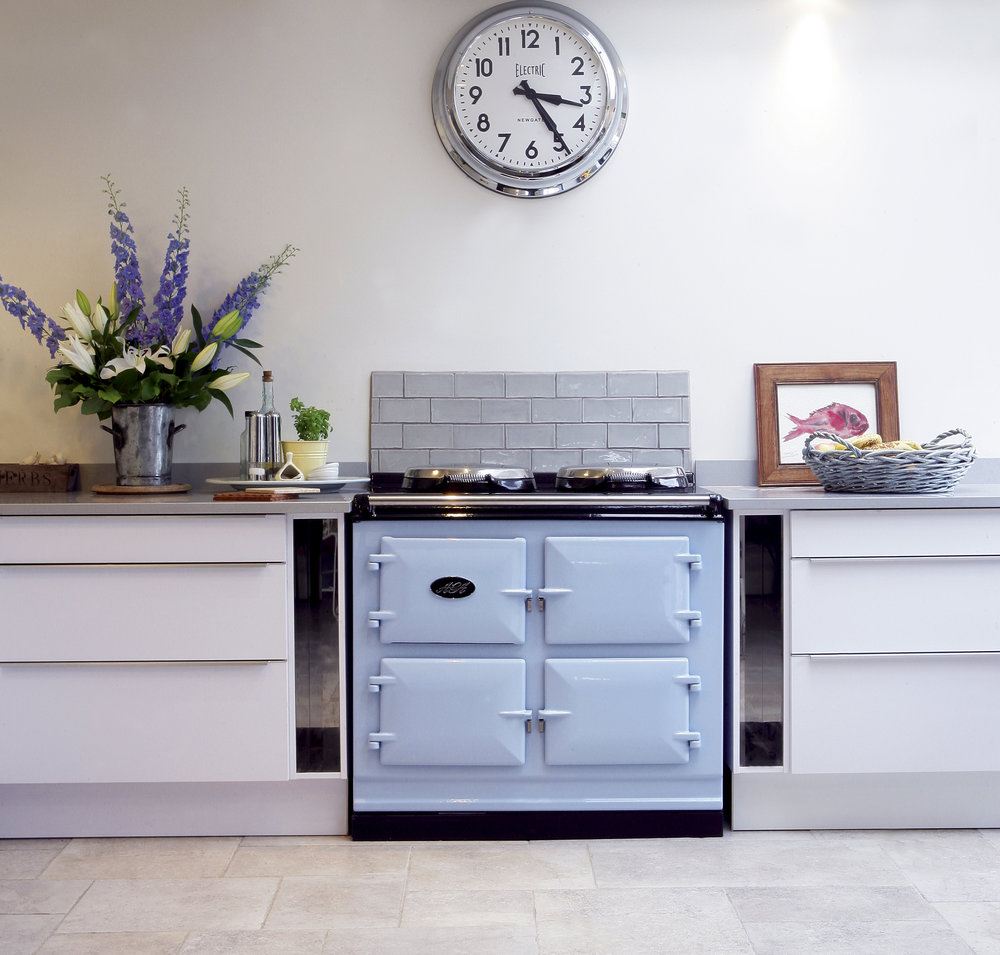 AGA Total Control 3-oven in               Duck Egg Blue