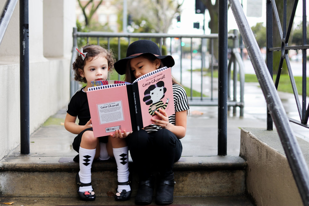 Book:   Little People Big Dreams Coco Chanel    |  Just to clarify, Mila and Lena are wearing the same shirt!