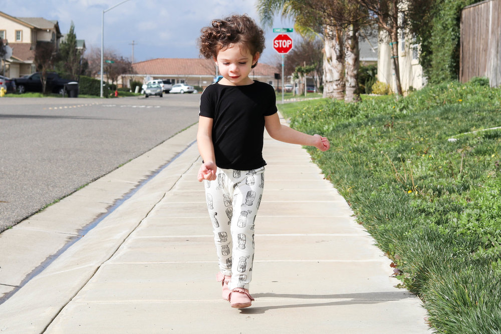 Do toddlers ever walk though? I find myself constantly running after this girl!