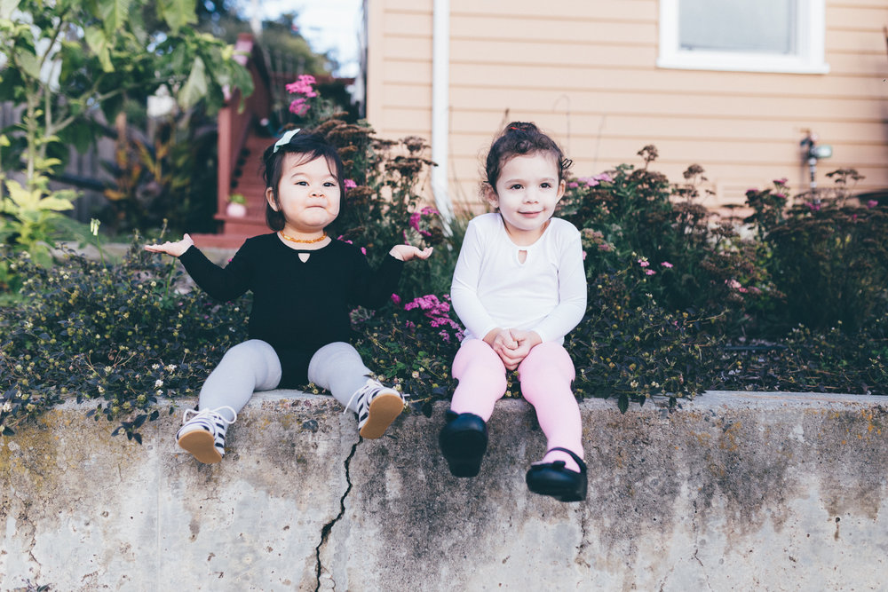 How cute is this throwback photo of a smaller Mila and Penny!   Shop   the bodysuit now!