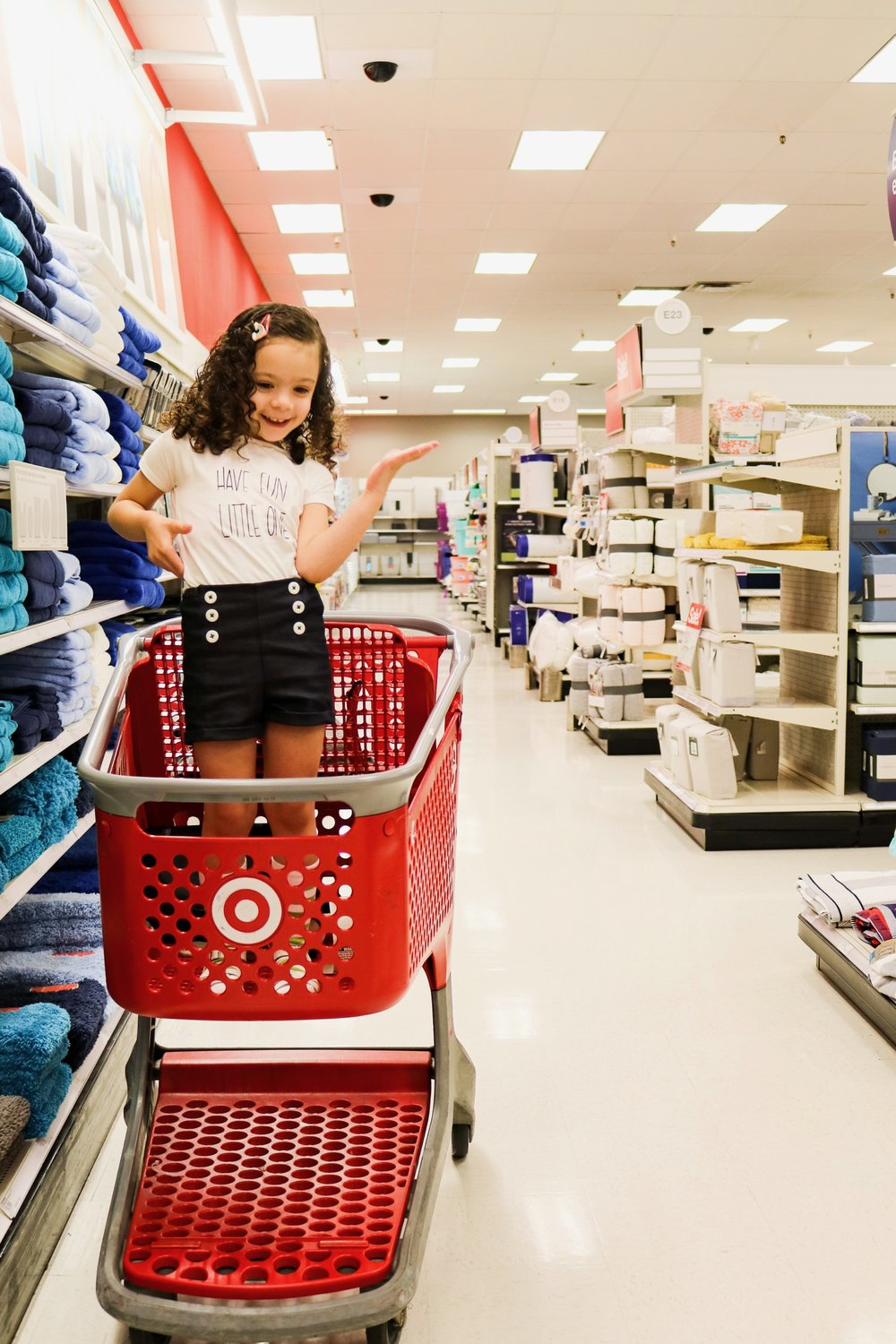 She's a little teapot, short and stout, there is her handle, there is her spout! Of course we had to have a photoshoot at Target because it's where we all love to have fun!