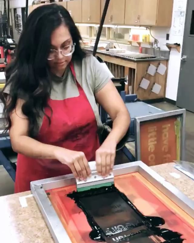 This past weekend, we had the opportunity to personally screen print some of our new Have Fun Little One products. It was definitely a learning process and several pieces didn't make it out the way I imagined, but I would say for a first timer, it was a success! I had so much fun and I really enjoy doing every step. 🖤 . Swipe to see some of our new HFLO pieces! We decided to do both designs because we just couldn't decide! The votes were pretty close but the solid print won! Hoping to add these little onesies to the shop soon!