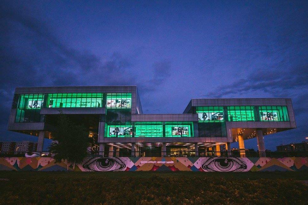 俯瞰EYE電影博物館©Iwan Baan攝影,EYE電影博物館提供