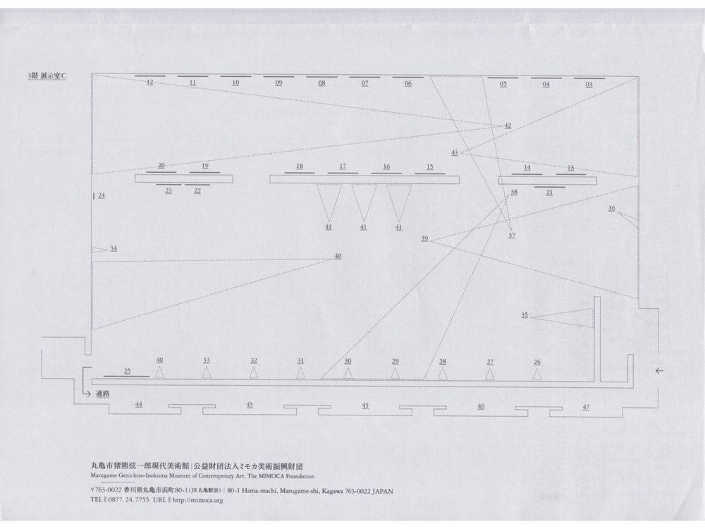 志賀理江子「Blind Date」展覽平面圖
