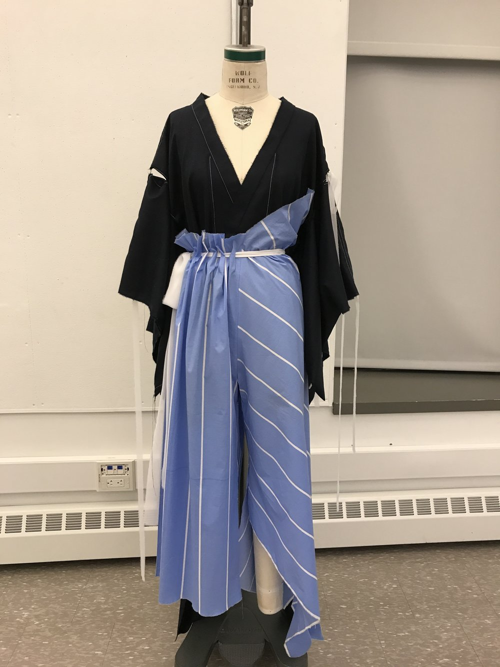 Here is the muslin that I presented during midterm crit of look 4
