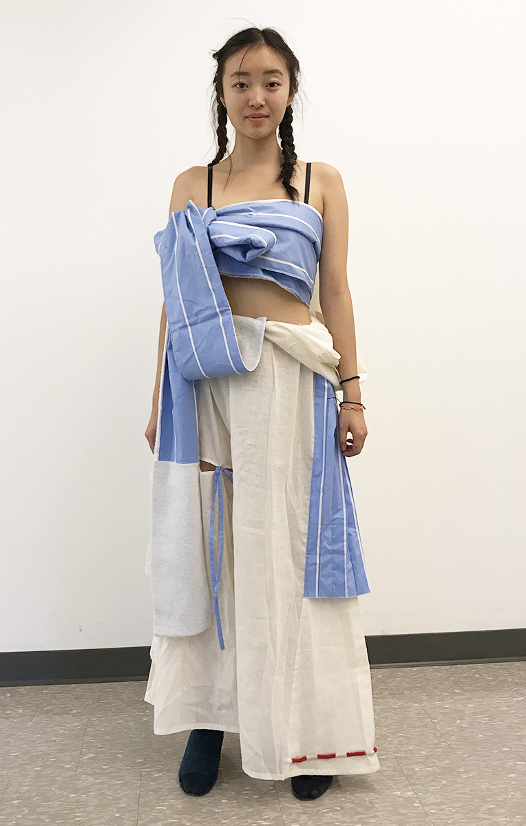 Obi Sash Bandeau and Draped Kimono pants (Prototype)