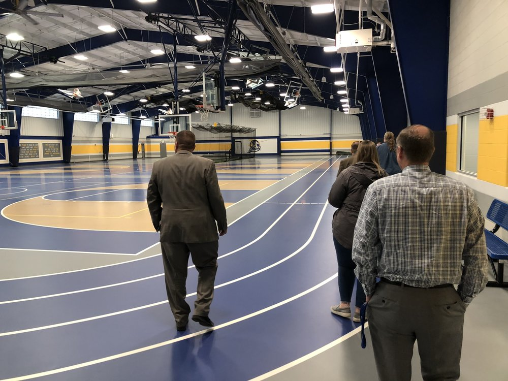 Lincolnview School District Community Center; built with revenue from wind investments.