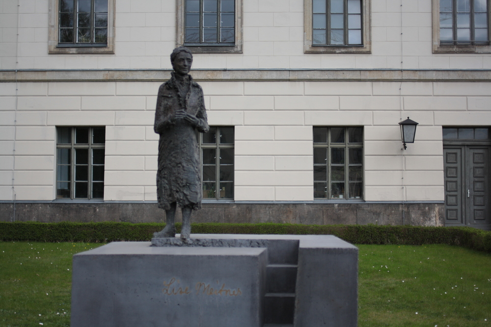 Statue of Lise Meitner in Berlin, Germany. Photo taken by Killian.
