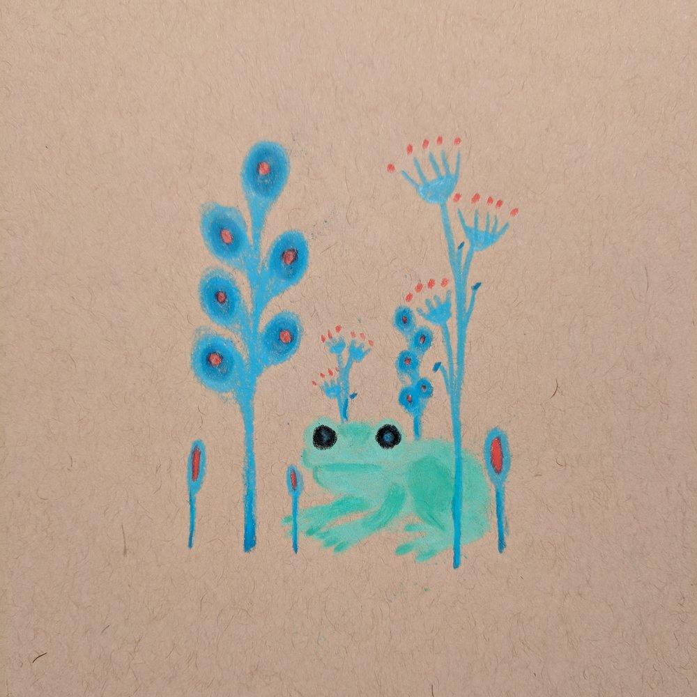 frog & plant friends