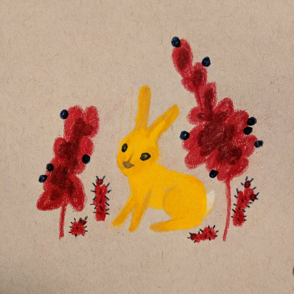 rabbit & plant friends