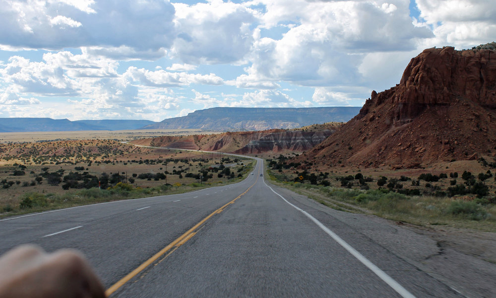 Driving to Abiquiu to dig clay
