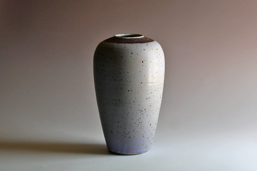 Vase with blue glaze