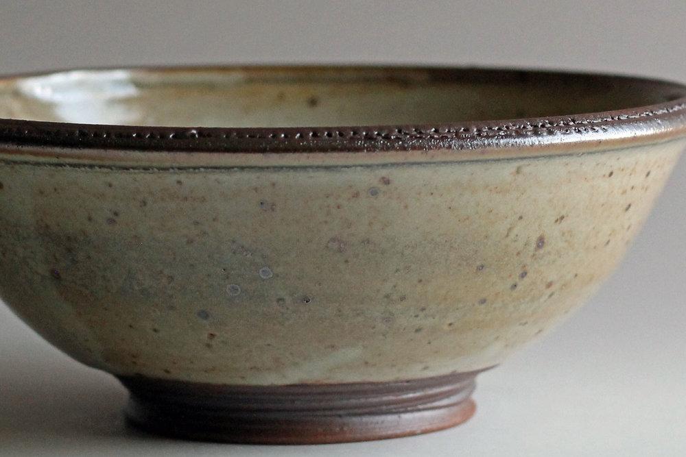 stoneware bowl shino glaze