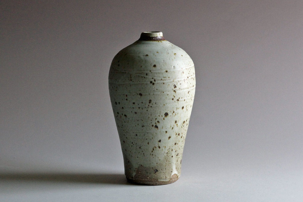 stoneware bottle with matte glaze