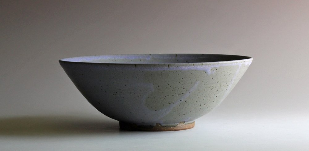 stoneware bowl blue glaze