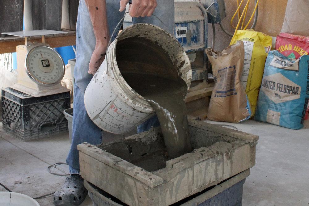 Local stoneware clay