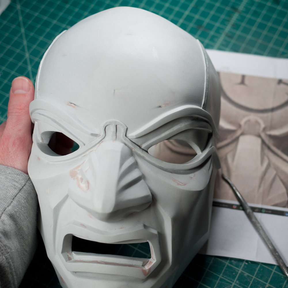 Dishonored Overseer mask ridge sculpting