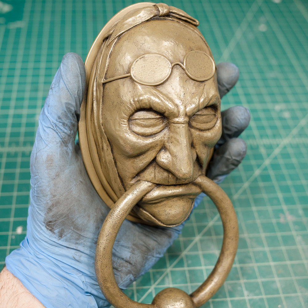 Jacob Marley Door Knocker Cold Cast Brass Weathering
