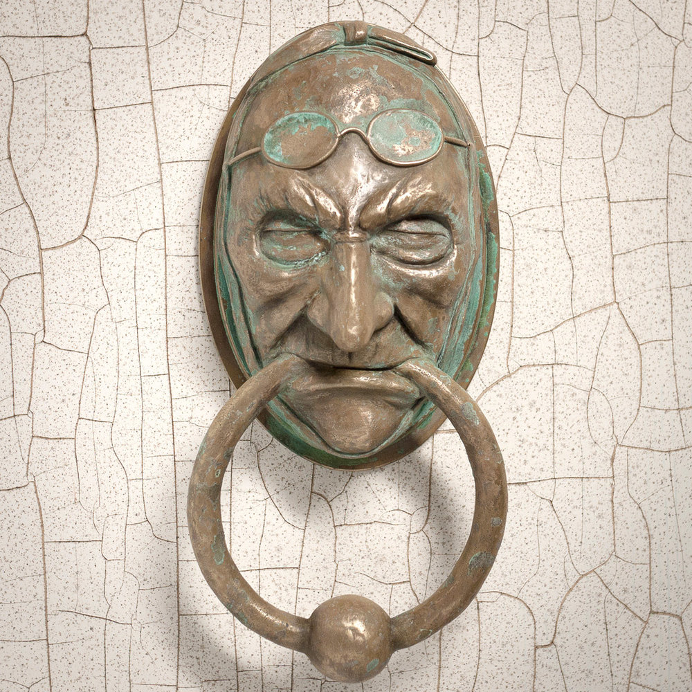 Jacob Marley Door Knocker Cold Cast Brass With Patina