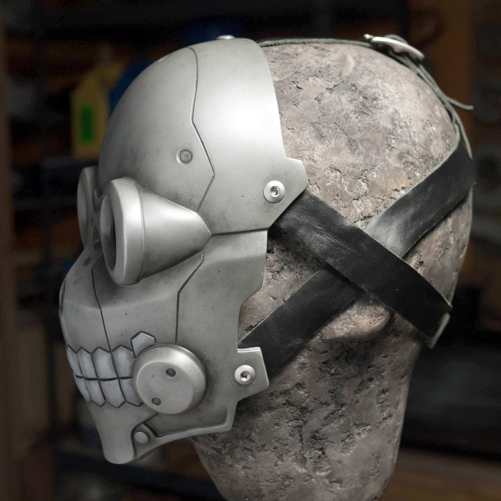 Sword Art Online Death Gun mask with leather strap