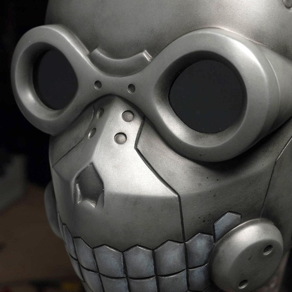 Sword Art Online Death Gun mask closeup