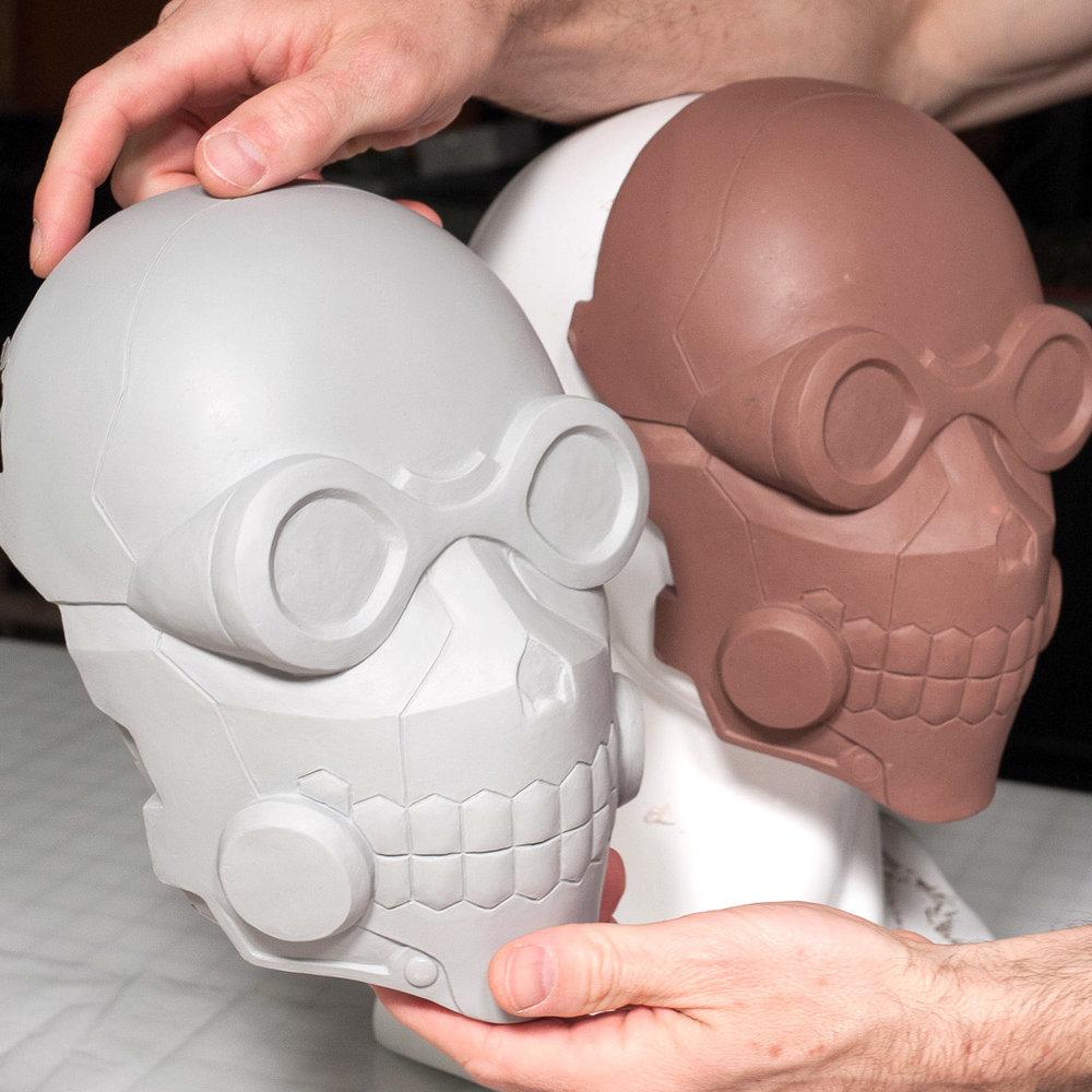 Sword Art Online Death Gun mask clay sculpt and junk cast