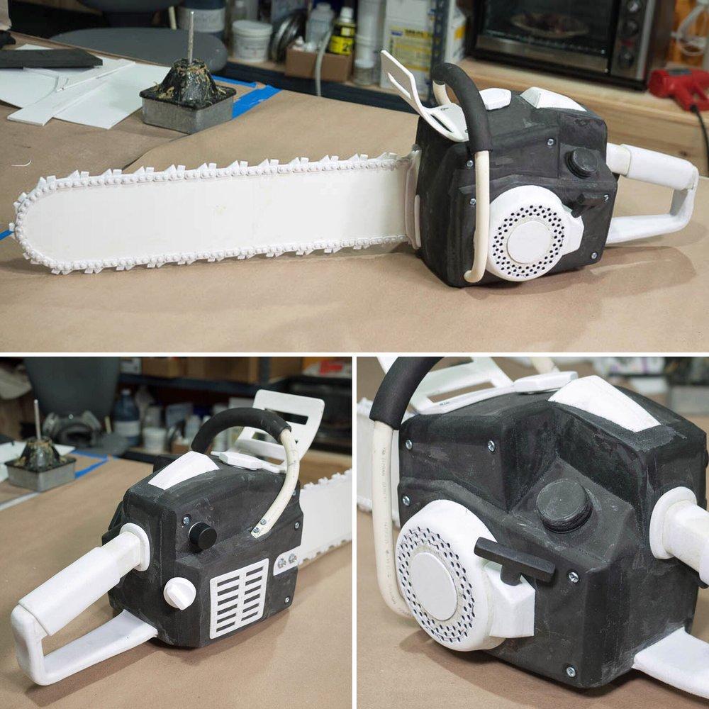 Foam chainsaw prop in progress