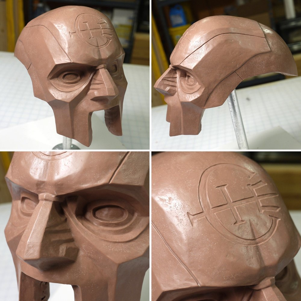 Dishonored 2 Overseer Mask clay sculpt details
