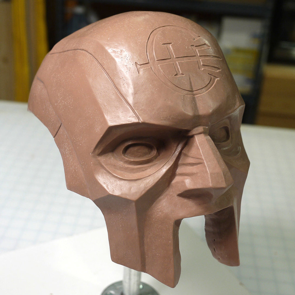 Dishonored 2 Overseer Mask clay sculpt