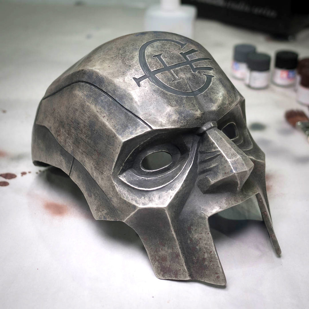 Dishonored 2 Overseer Mask cold cast in metallic powder