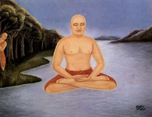 Maharshi in Yogic Pose