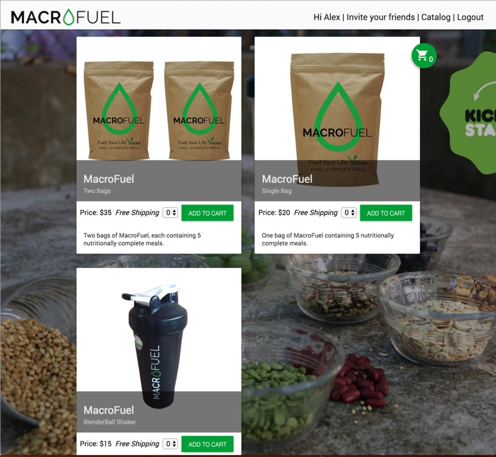 MacroFuel Food Online Store v1 Catalog