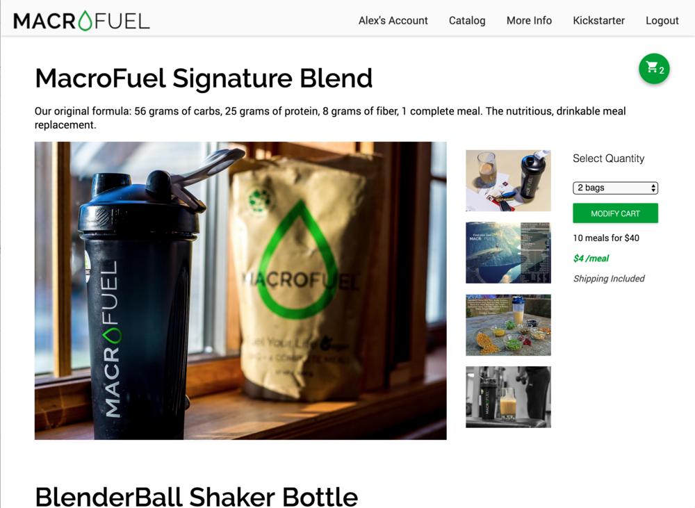 MacroFuel Food Online Store v2 Desktop