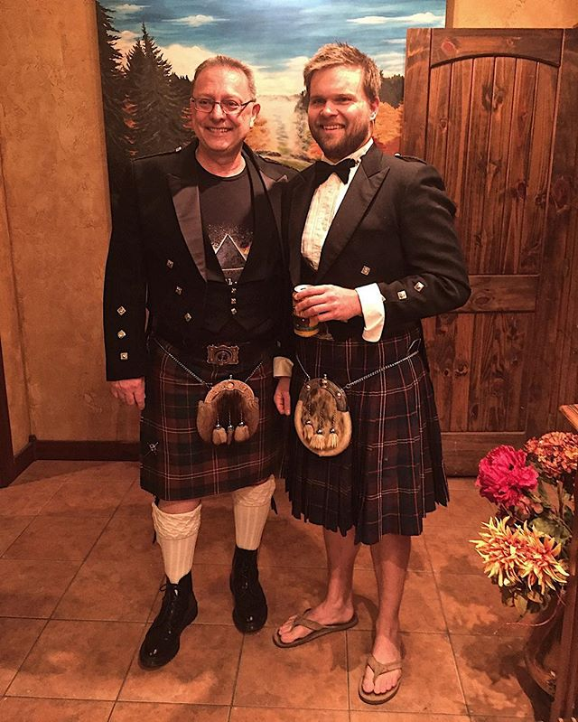 "When I hear there's going to be Scottish night at the vineyard,  my  first question is ""can I wear a kilt?"" 95% Scottish + 5% Hawaiian= 100% good time.  #bonniescotland #nokaoi"