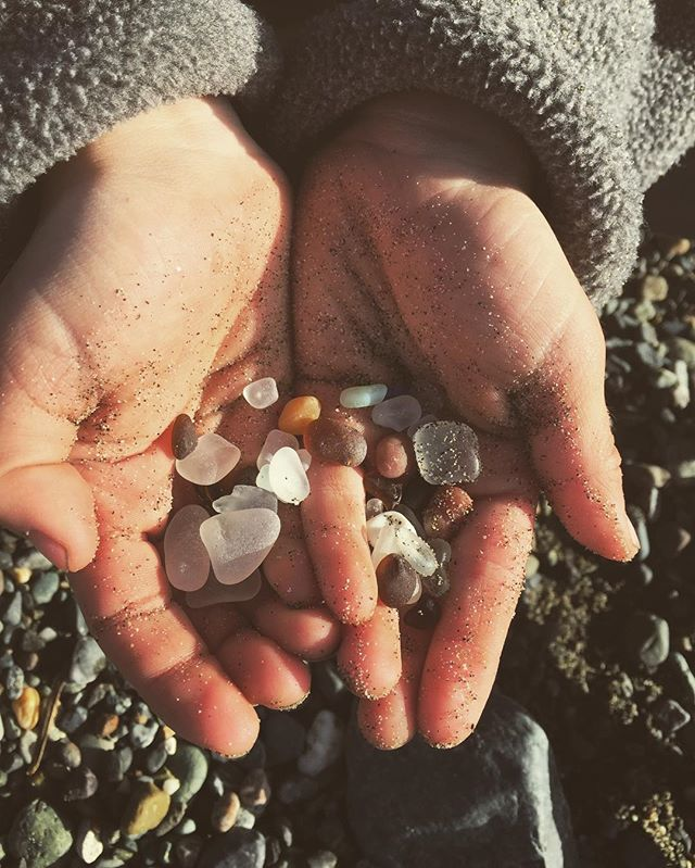 Beach glass treasure. ☀️🌊